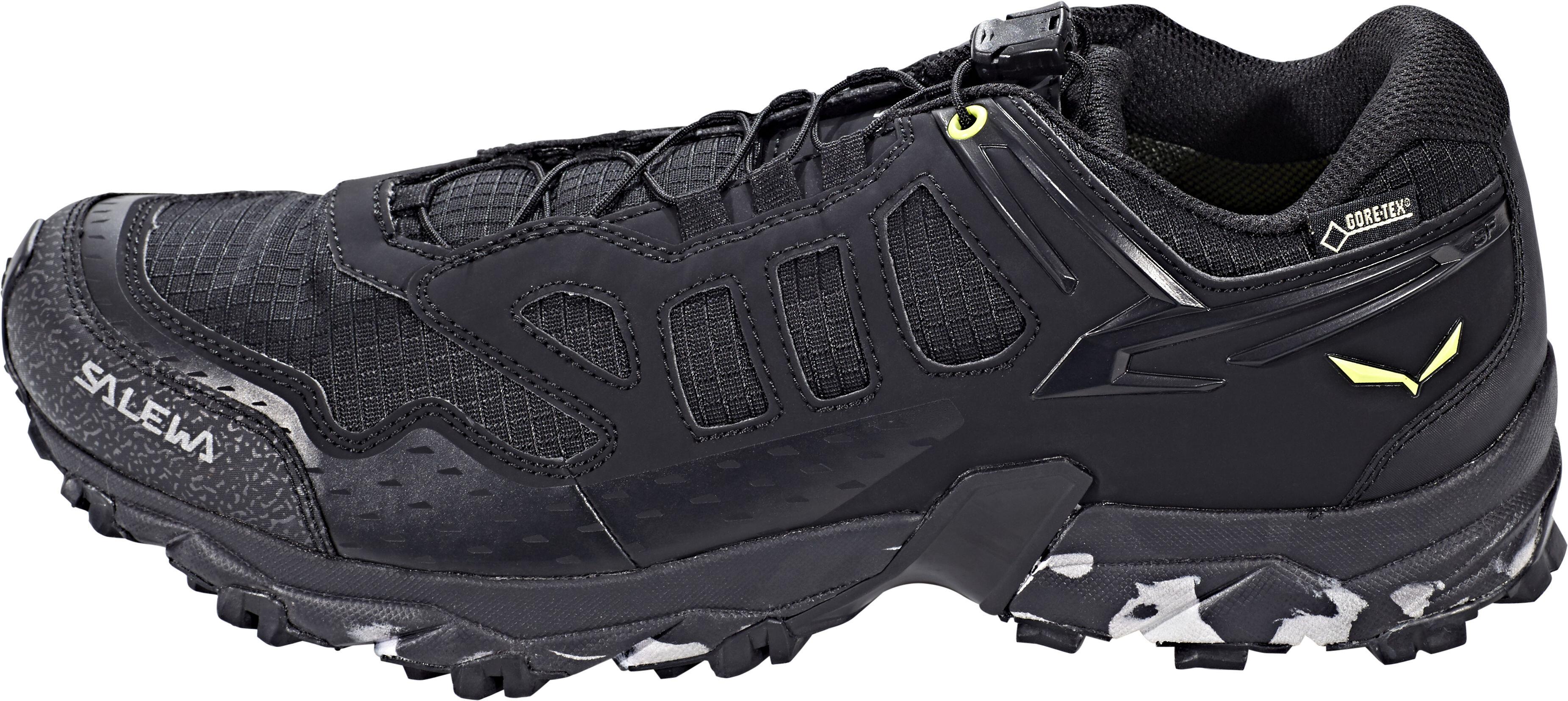 Salewa Ultra Train GTX Shoes Men Black Swing Green  63605948726